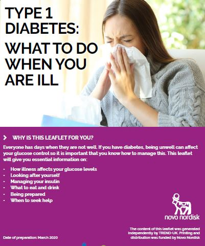 Type 1 diabetes - what to do when you are ill. Click here to follow link.