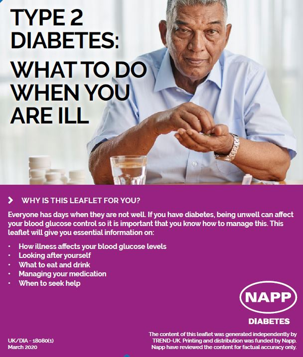 Type 2 diabetes - what to do when you are ill. Click here to follow link.